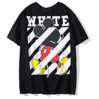 メンズ Tシャツ 黒 ブラック オフホワイト レディース ミッキー ペアルック(Tシャツ/カットソー(半袖/袖なし))