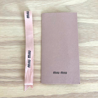 miumiu - miumiu ラッピングリボン&カードセット