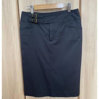 ボッシュ(BOSCH)のBOSCH★サンプル品★ピンストライプタイトスカート(ひざ丈スカート)