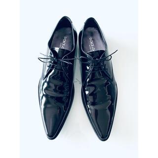 ドルチェアンドガッバーナ(DOLCE&GABBANA)のDolce&Gabbana パテントレザーシューズ 黒 サイズ42(ドレス/ビジネス)