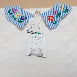 プチジャム(Petit jam)のプチジャム お花 刺繍 Tシャツ 90(Tシャツ/カットソー)