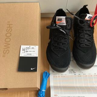 ナイキ(NIKE)のOFF WHITE × Nike Air Vapormax Black 25.5(スニーカー)