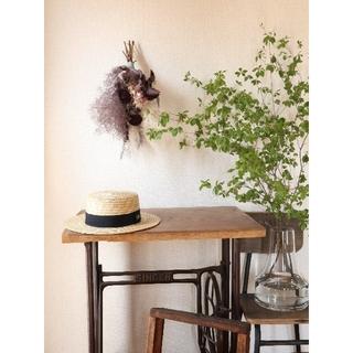 銅葉とパンパスグラスの夏越しスワッグ。スモークツリー。ドライフラワースワッグ(ドライフラワー)