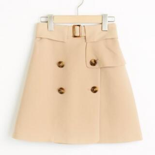 マジェスティックレゴン(MAJESTIC LEGON)のJトレンチ風台形スカート(ミニスカート)