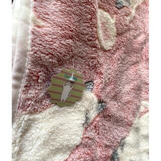 もふもふ 可愛い ねこ 柄 柔らか ブランケット 毛布 ひざ掛け R(毛布)