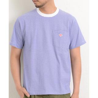 DANTON - DANTON ダントン Tシャツ ブルーホワイト 42