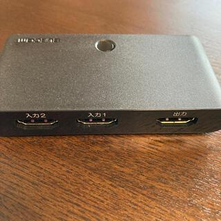エレコム(ELECOM)のエレコム HDMI セレクター 2in1 切替機 ブラック DH-SW21BK(映像用ケーブル)