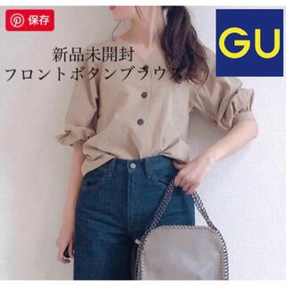 GU - 【新品 未開封 タグ付き】GU フロントボタンブラウス