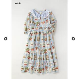 ジェーンマープル(JaneMarple)のジェーンマープル Cherry labelsティアードドレス(ひざ丈ワンピース)