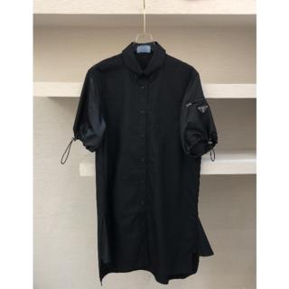 PRADA - 新作【PRADA】ポプリンとリナイロンのドレス