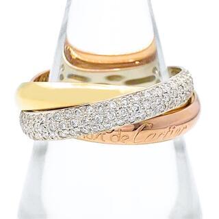 カルティエ(Cartier)の【仕上済】カルティエ トリニティリング 15号 55 ダイヤ 指輪 リング(リング(指輪))