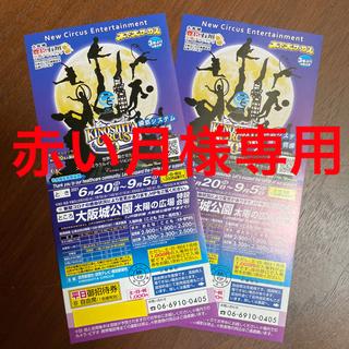 木下大サーカス 大阪 チケット2枚(サーカス)