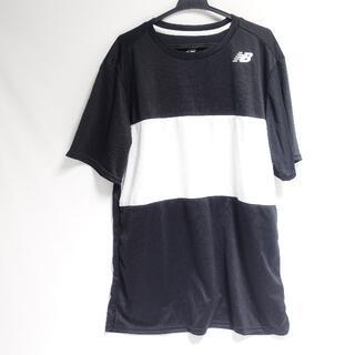 New Balance - New Balance 半袖スポーツシャツ レディース ブラック/ホワイト