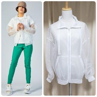 ダブルスタンダードクロージング(DOUBLE STANDARD CLOTHING)のダブルスタンダードクロージング エッセンシャル メッシュパーカー シースルー 白(パーカー)