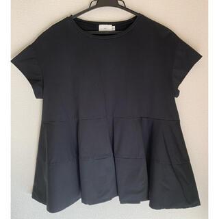 Drawer - yori ヨリ フレア カットソー 半袖 黒