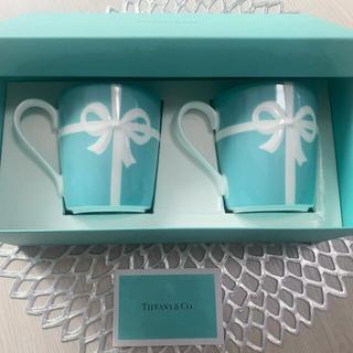 ティファニー(Tiffany & Co.)の【新品】ティファニー マグカップ2個セット(グラス/カップ)