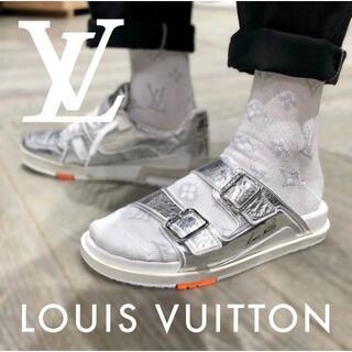 ルイヴィトン(LOUIS VUITTON)のLouis Vuitton ルイ・ヴィトン サンダル ミュールLVトレーナー (サンダル)