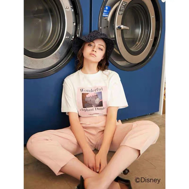 eimy istoire(エイミーイストワール)のEIMY  Tシャツ Dumbo & Mrs. Jumbo T-shirt レディースのトップス(Tシャツ(半袖/袖なし))の商品写真