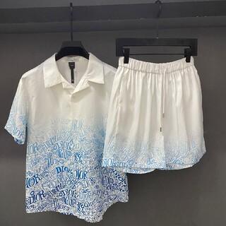 クリスチャンディオール(Christian Dior)のクリスチャンディオールメンズTシャツとショットパンツセットアップ(Tシャツ/カットソー(半袖/袖なし))