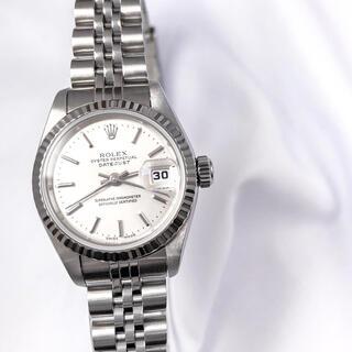 ロレックス(ROLEX)の【仕上済】ロレックス デイトジャスト シルバー文字盤 レディース 腕時計(腕時計)