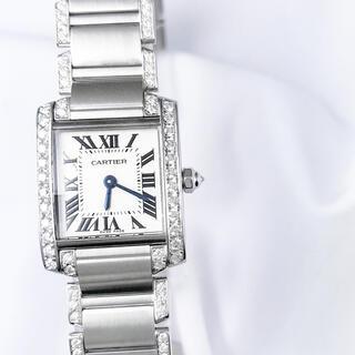 カルティエ(Cartier)の【保証書付】カルティエ フランセーズ シルバー ダイヤ レディース 腕時計(腕時計)