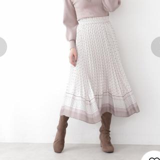 JILL by JILLSTUART - ジルバイジルスチュアート キカドットプリーツスカート