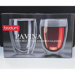 ボダム(bodum)の未使用 BODUM PAVINA ダブルウォール グラス 350ml ペア 2重(グラス/カップ)