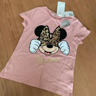 エイチアンドエム(H&M)の値下げ!新品!エイチアンドエム ミニーマウスTシャツ 110(Tシャツ/カットソー)