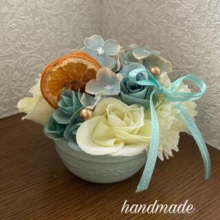 造花アレンジ ブルー(その他)