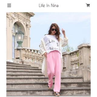 eimy istoire - 浜崎あゆみ愛用ブランド Life In Nina ロゴTシャツ 白