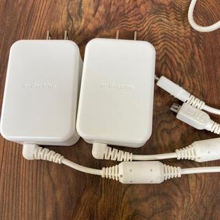 NTTdocomo - type-B 充電器 2個セット docomo 1m