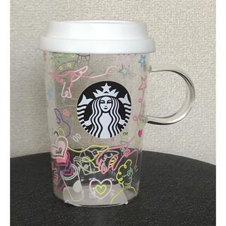 Starbucks Coffee - スターバックス 耐熱グラスマグ カラフルラインアート 355ml