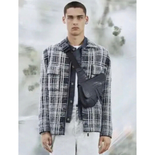 Christian Dior - Dior homme men 20ssモヘアシルク混合ウールジャケット ブルゾン