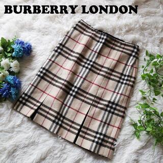 バーバリー(BURBERRY)のバーバリーロンドン BURBERRY LONDON膝丈メガノバチェックスカート(ひざ丈スカート)