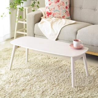 リビングテーブル ホワイト色 ローテーブル/シンプルテーブル/4080(ローテーブル)