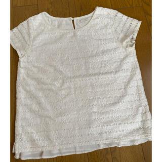 エニィスィス(anySiS)の白総レーストップス(カットソー(半袖/袖なし))