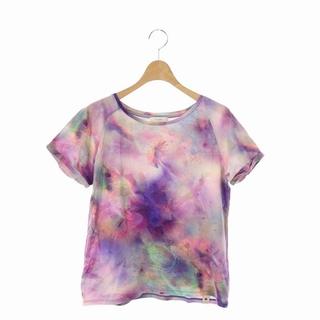 ポールスミス(Paul Smith)のポールスミス 総柄 Tシャツ カットソー 半袖 クルーネック M 紫(Tシャツ(半袖/袖なし))