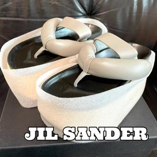 Jil Sander - JIL SANDER ジルサンダー プラットフォーム サンダル 新品 国内正規品