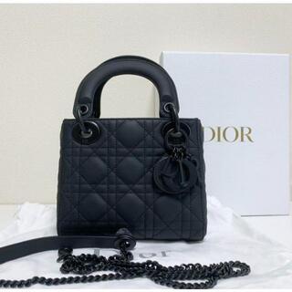 Christian Dior - 新品 Dior レディディオール ハンドバッグ マットブラック ミニ