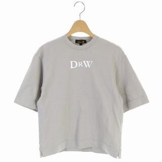 Drawer - ドゥロワー Drawer プリントエンブレムTEE Tシャツ 1 グレージュ