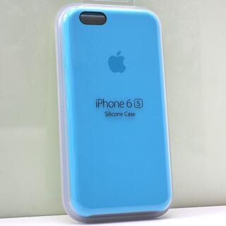 iPhone 6s/6用 Apple純正 シリコンケース ブルー(iPhoneケース)