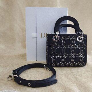 "Christian Dior - Dior★サテン ""LADY DIOR"" ミニバッグ"