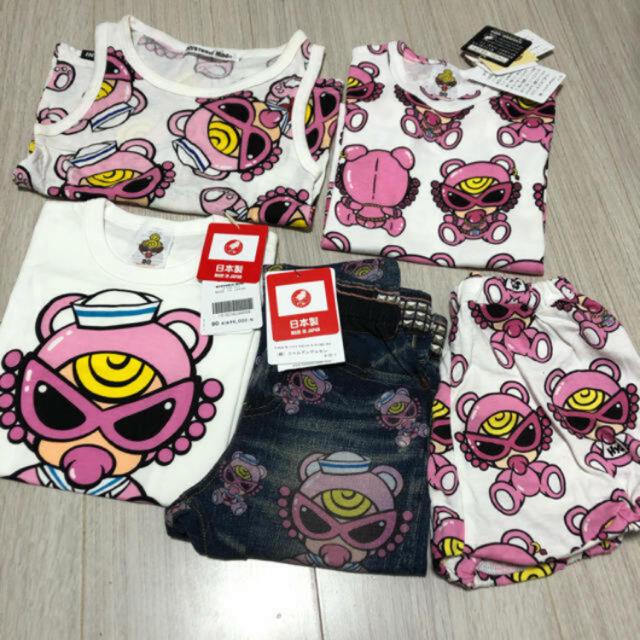 HYSTERIC MINI(ヒステリックミニ)のテディ セット キッズ/ベビー/マタニティのキッズ服女の子用(90cm~)(Tシャツ/カットソー)の商品写真