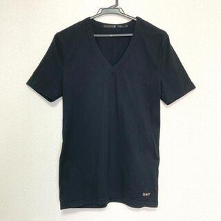 ノーアイディー(NO ID.)のNO ID ノーアイディー 黒の半袖Vネック Tシャツ(Tシャツ/カットソー(半袖/袖なし))