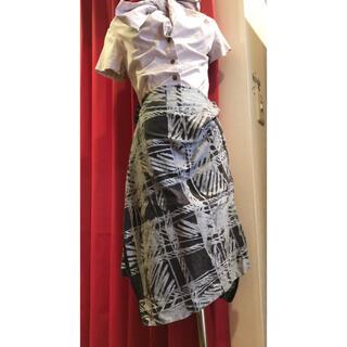 ヴィヴィアンウエストウッド(Vivienne Westwood)のヴィヴィアンイタリア製ジップデザイン変型ロングスカート40春夏二階堂ふみ椎名林檎(ロングスカート)