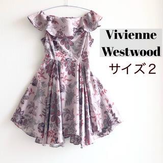 Vivienne Westwood - 【レアデザイン】ヴィヴィアン・ウエストウッド ピンク ワンピース ボタニカル 2