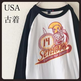 【USA古着】sporttek  ラグランスリーブ七分袖シャツ カットソー M (Tシャツ/カットソー(七分/長袖))