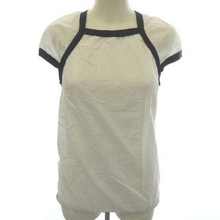 マルニ(Marni)のマルニ MARNI ブラウス 半袖 バックジップ 38 M 白 黒(シャツ/ブラウス(半袖/袖なし))