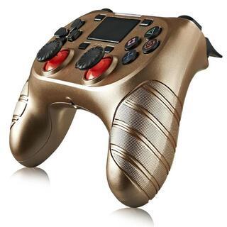 USB付 PS4 ワイヤレスコントローラー ゴールド Gold 金色 互換品(その他)