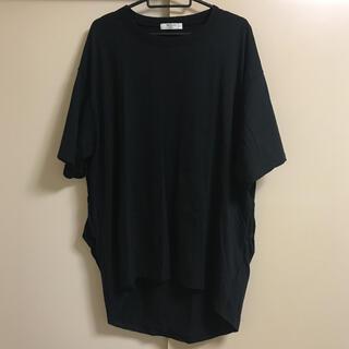 サマンサモスモス(SM2)の☆Samansa Mos2 blue☆裾タックチュニックTee(Tシャツ(半袖/袖なし))